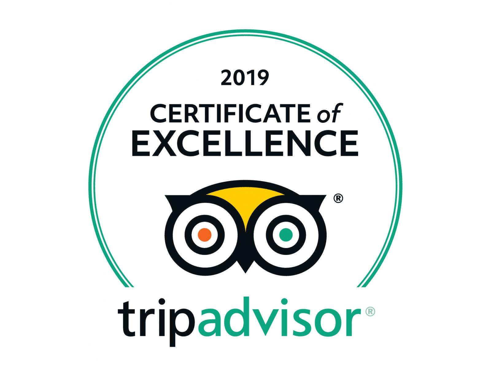 Image result for tripadvisor certificate of excellence 2019